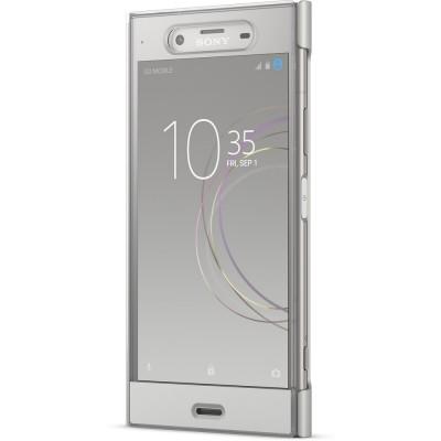 Sony SCTG50 flipové púzdro pre Sony XZ1, strieborné