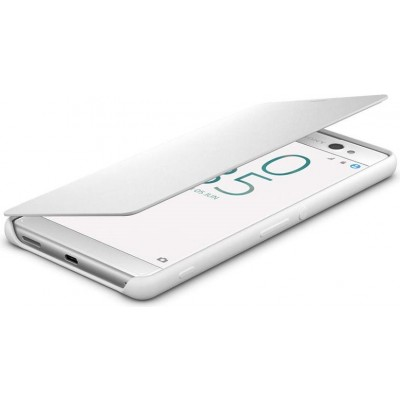 Štýlový flipový kryt Sony SCR60 pre Xperia XA Ultra, White