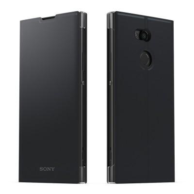 Sony SCSH20 flipové púzdro pre Sony Xperia XA2 Ultra, čierne