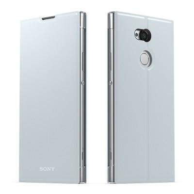 Sony SCSH20 flipové púzdro pre Sony Xperia XA2 Ultra, strieborné