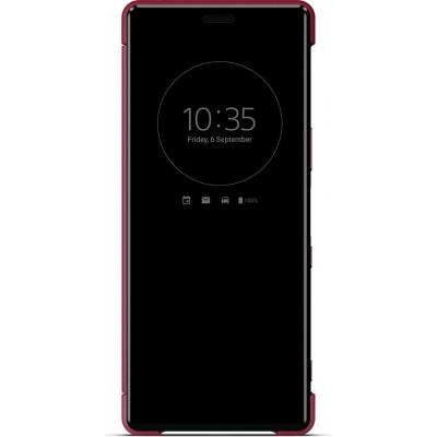 Sony SCVJ10 flipové púzdro pre Sony Xperia 5, červené