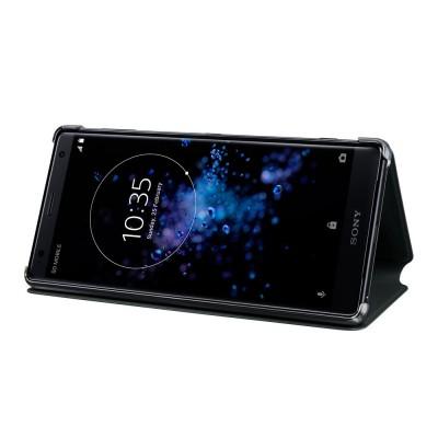 Sony SCSH40 flipové púzdro pre Sony Xperia XZ2, čierne