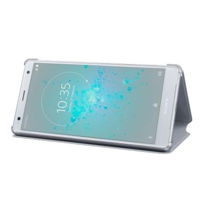 Sony SCSH40 flipové púzdro pre Sony Xperia XZ2, šedé
