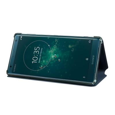 Sony SCSH40 flipové púzdro pre Sony Xperia XZ2, zelené
