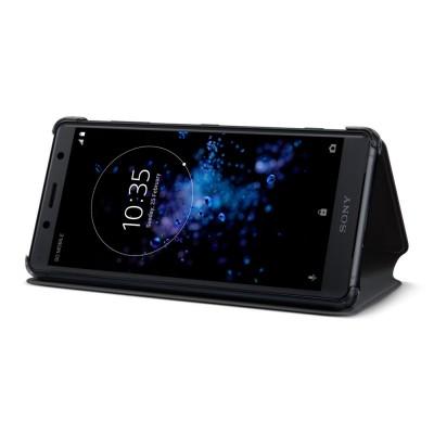 Sony SCSH50 flipové púzdro pre Sony Xperia XZ2 Compact, čierne