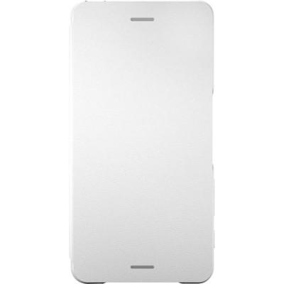 Štýlový flipový kryt Sony SCR58 pre Xperia X Performance, White