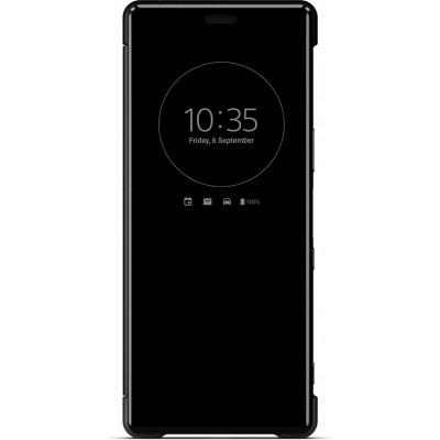 Sony SCVJ10 flipové púzdro pre Sony Xperia 5, čierne
