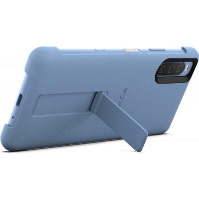 Sony štýlový kryt so stojanom pre smartfón Xperia 10 III, modrý